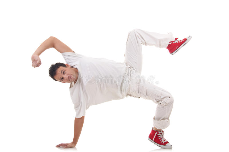 Break dancer posing royalty free stock photography