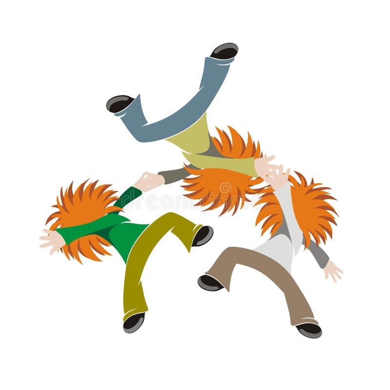 Download Break dancers stock vector. Image of hyperactive, exercise - 7898106