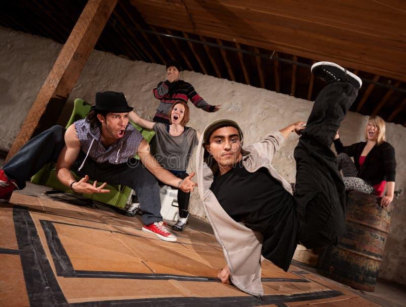 Break Dancers Performing stock image