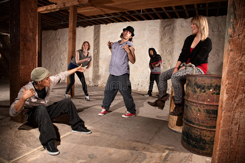 Break Dancers Showing Off royalty free stock photo