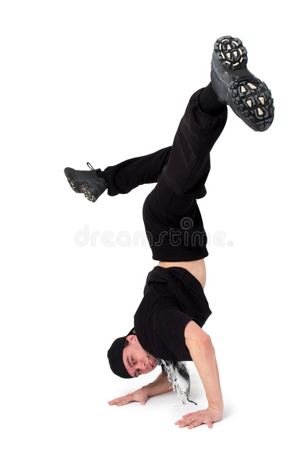 Break dancing stock photography