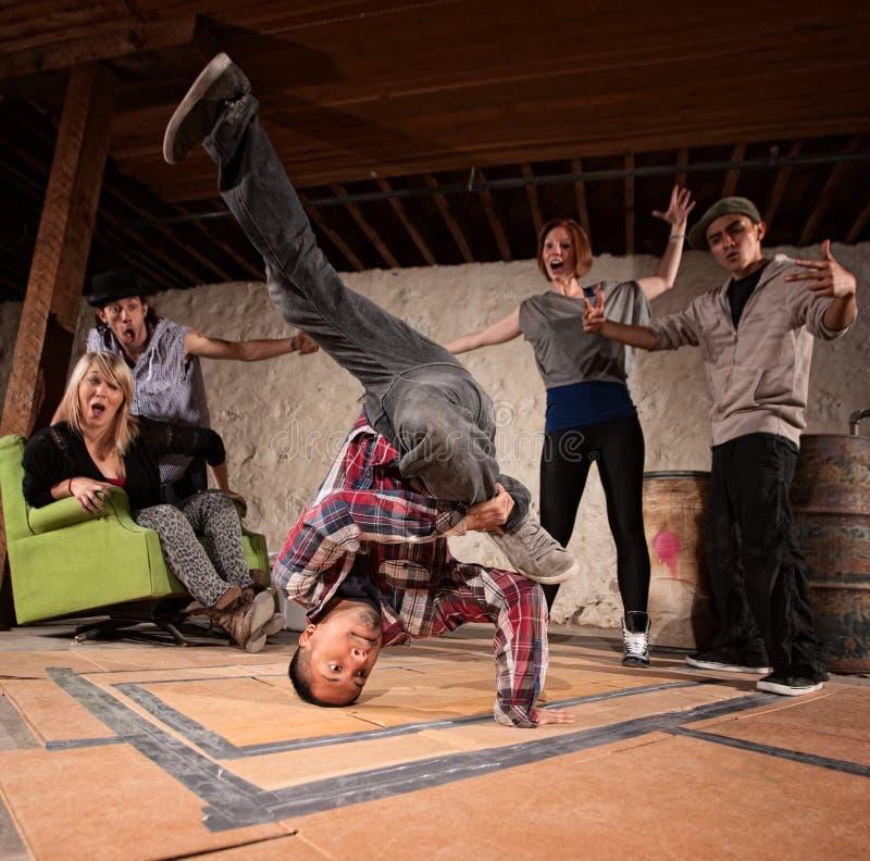 Break Dancing Headspin stock image