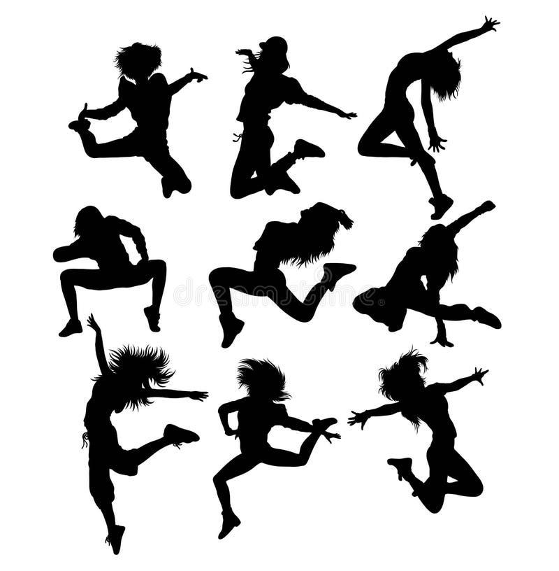 Break Dancing Hip Hop Silhouette vector illustration