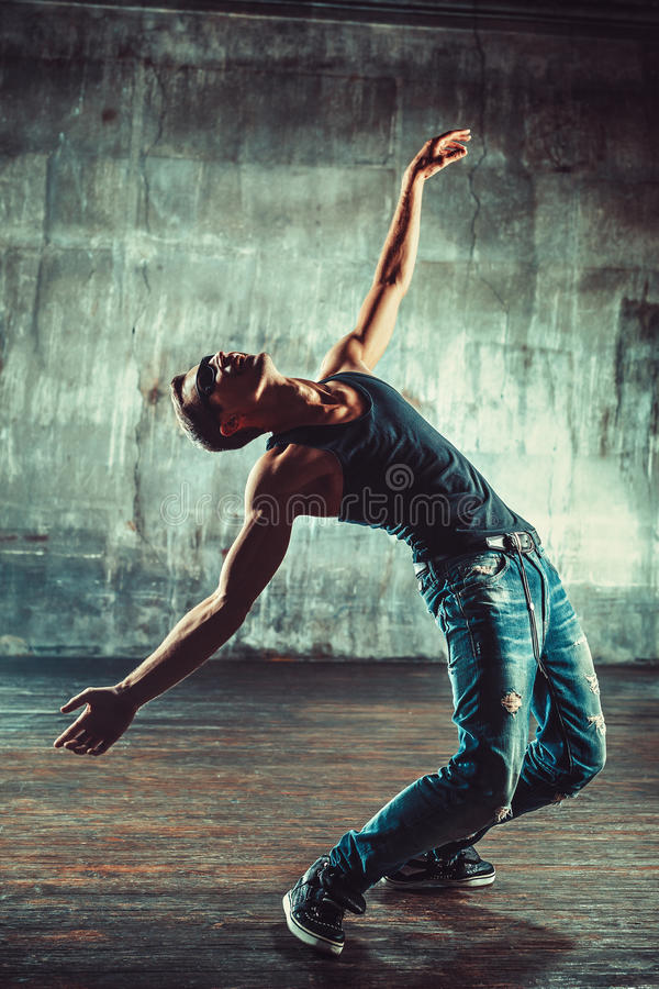 Break dancing man royalty free stock photography