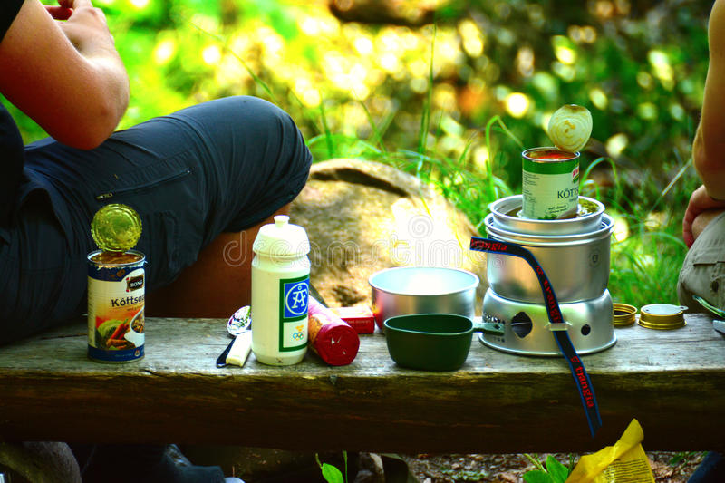 Download Break After A Long Walk In The Countryside Editorial Image - Image of camping, female: 32242360