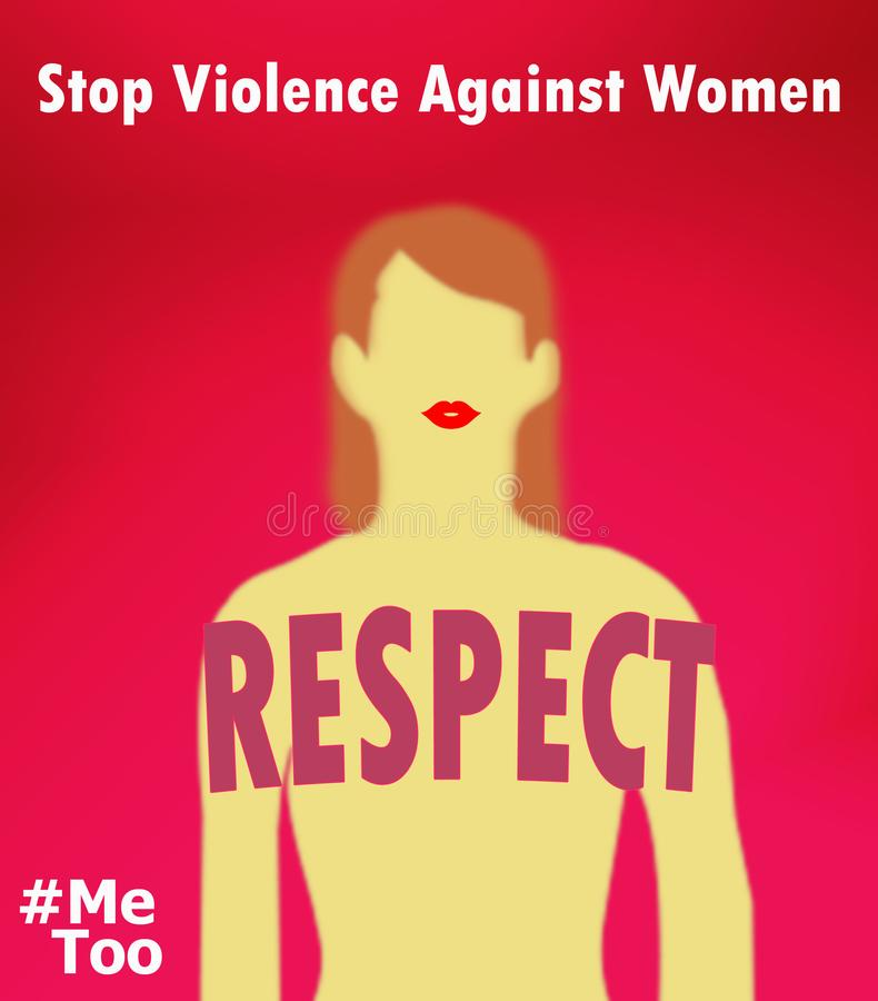 Break the silence stop violence against woman stock photo