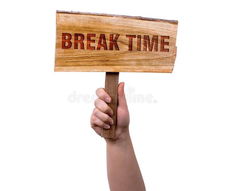 Break time wooden sign royalty free stock images