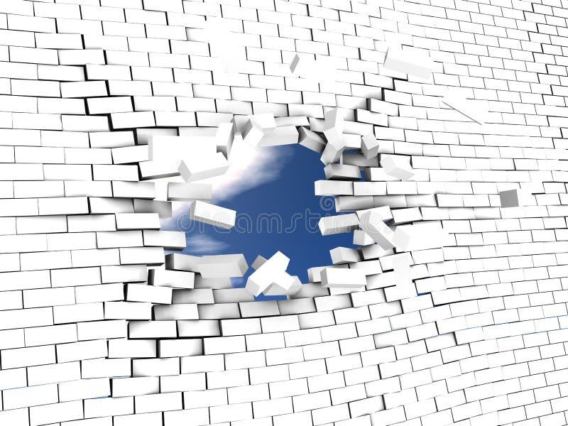 Break the wall stock illustration