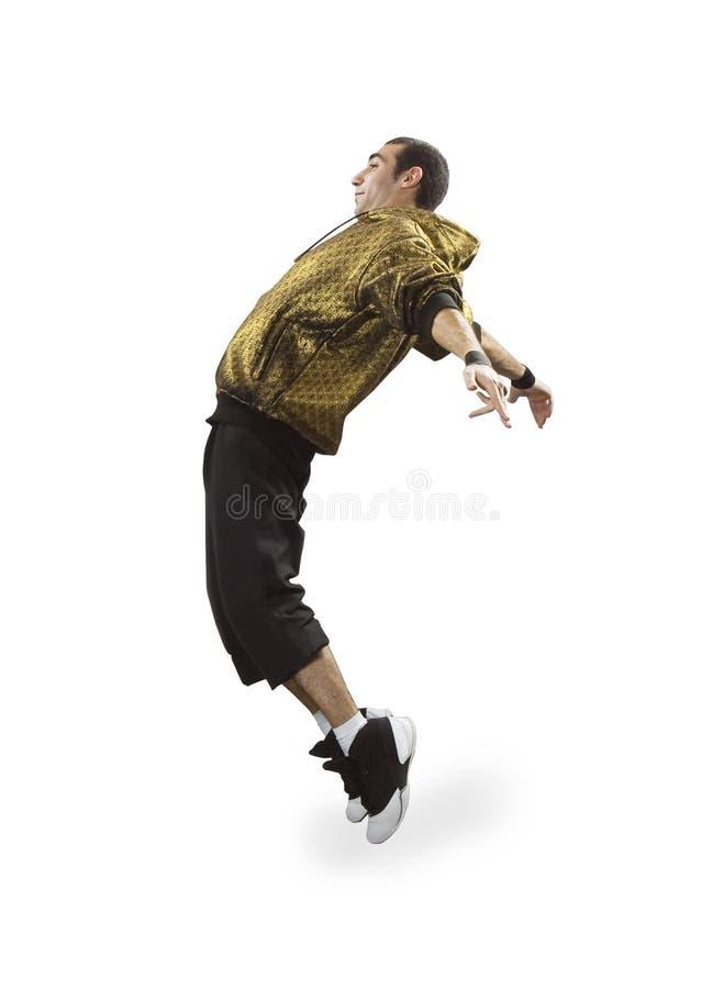 breakdance跳舞少年 免版税库存图片