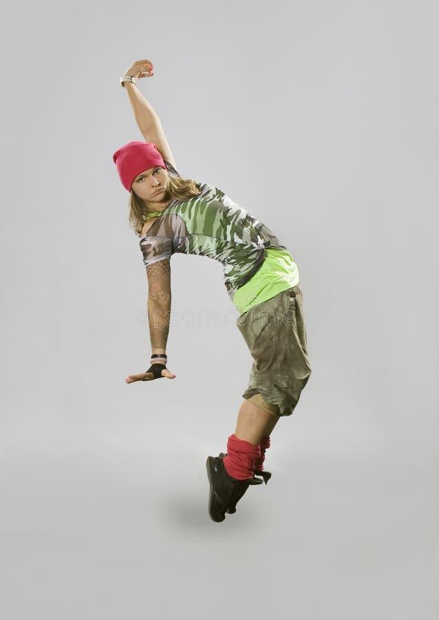 breakdance跳舞少年 库存照片
