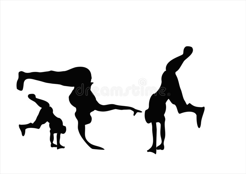 Breakdance stock illustration