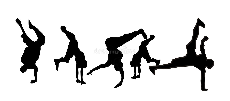 breakdance royalty ilustracja