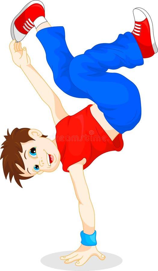 Breakdance chłopiec ilustracji