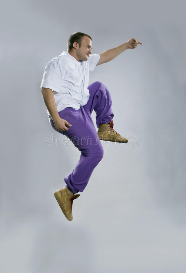 Breakdance da dança do adolescente foto de stock