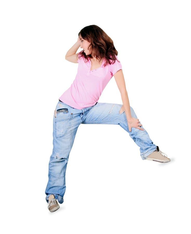 Breakdance da dança do adolescente na ação imagem de stock