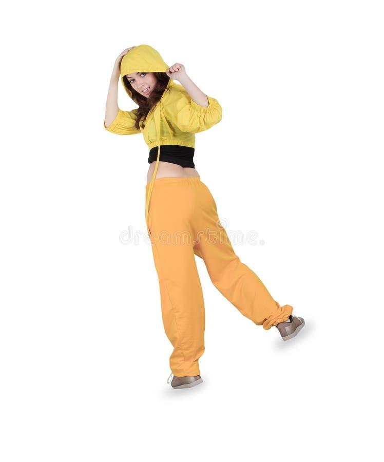 Breakdance da dança do adolescente na ação fotografia de stock royalty free