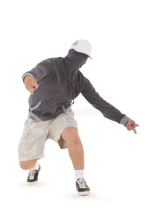 Breakdance da dança do adolescente na capa imagens de stock