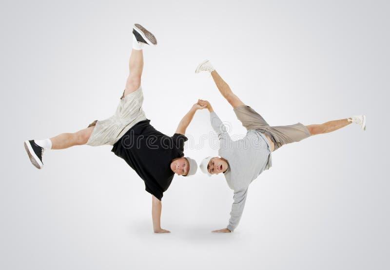 Breakdance da dan?a do adolescente na a??o imagem de stock