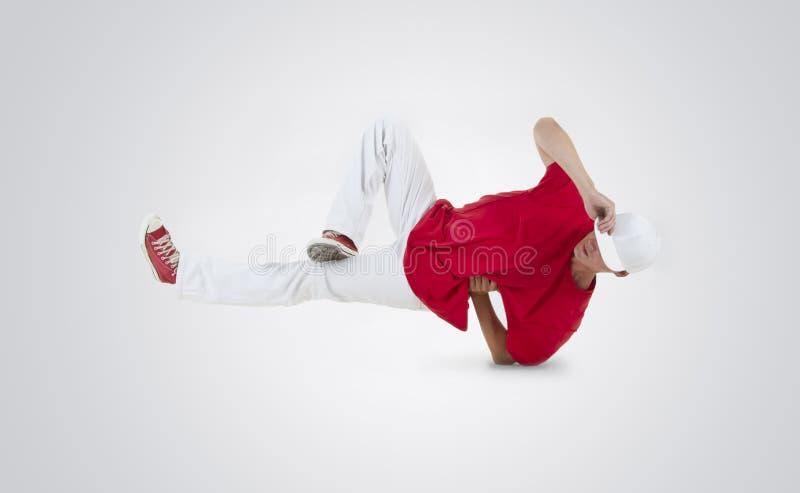 Breakdance da dan?a do adolescente na a??o imagens de stock royalty free