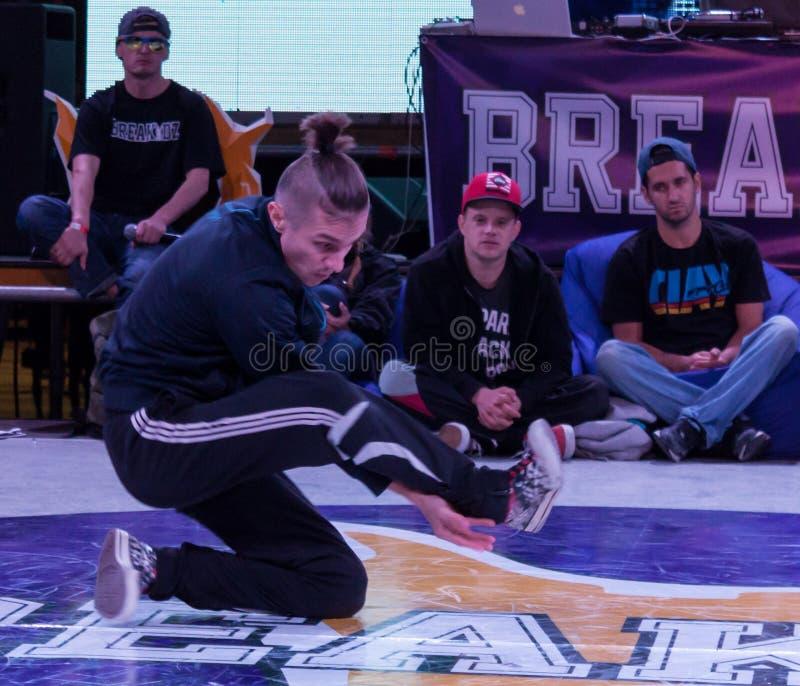 Breakdance profesional del baile del atleta imagen de archivo