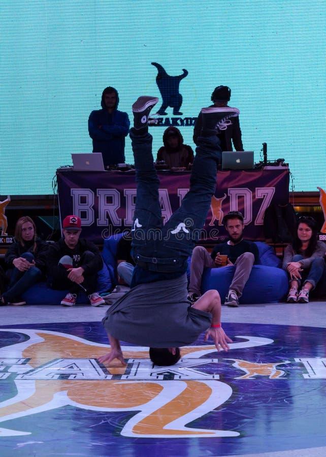 Breakdance profesional del baile del atleta imagen de archivo libre de regalías