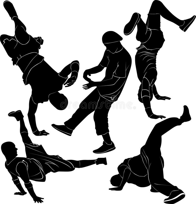 Breakdance przerwy taniec ilustracji