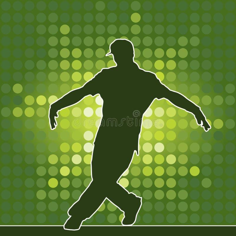 breakdance tana sylwetka ilustracja wektor