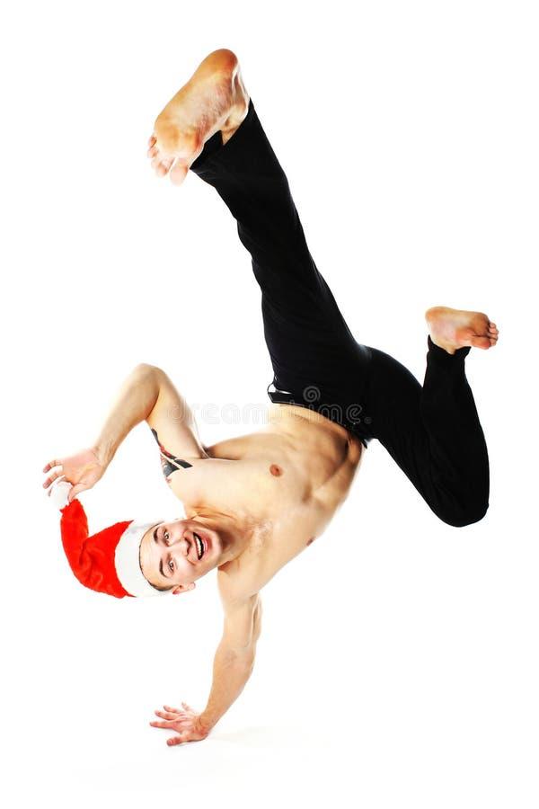 Breakdance van Kerstmis royalty-vrije stock foto's
