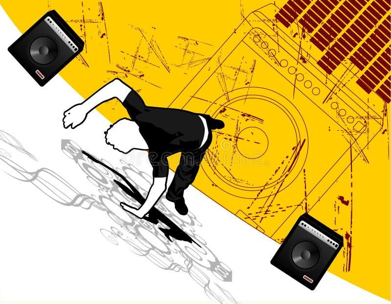 breakdance wektora ilustracji