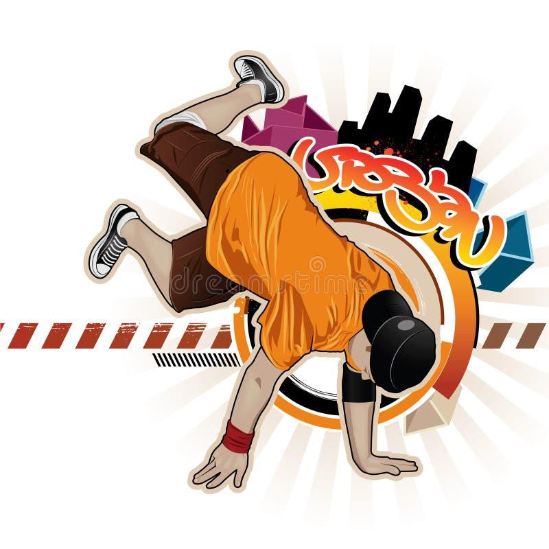 Breakdancer illustration de vecteur