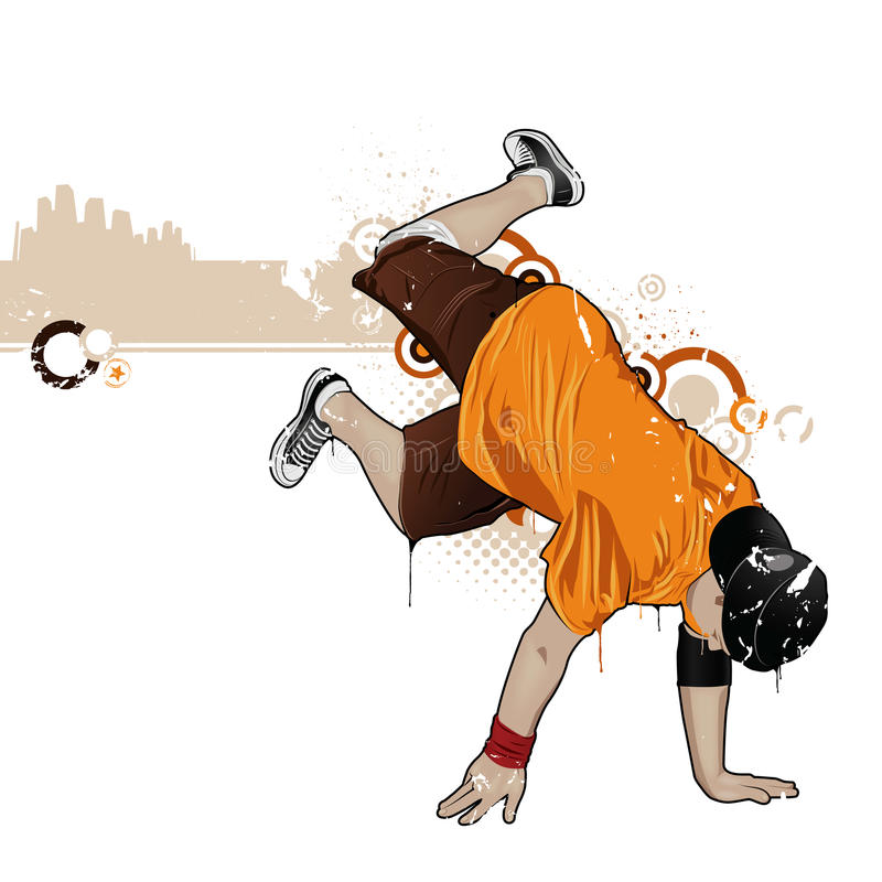 Breakdancer illustration stock