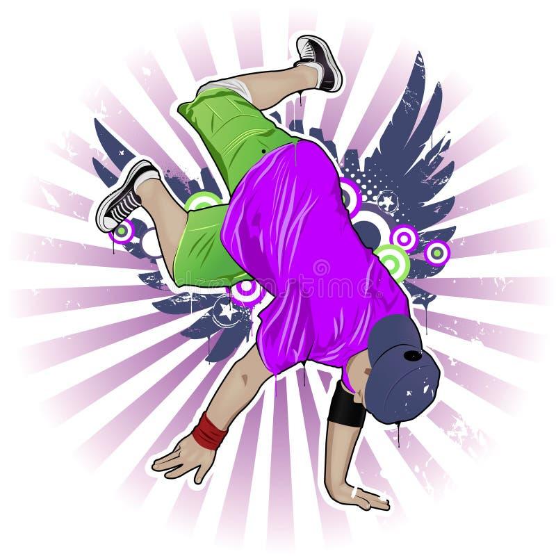 breakdancer vektor illustrationer
