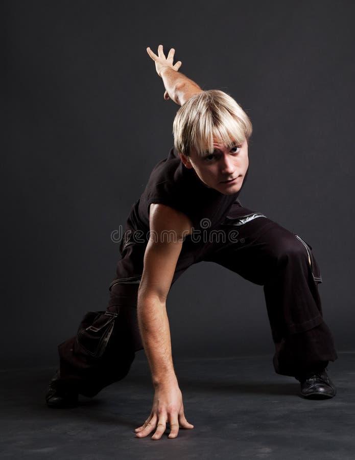 breakdancer blond ruch fotografia stock