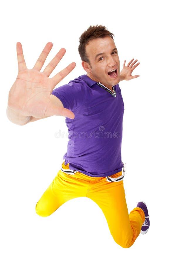 Breakdancer che fa un gesto di arresto fotografie stock libere da diritti