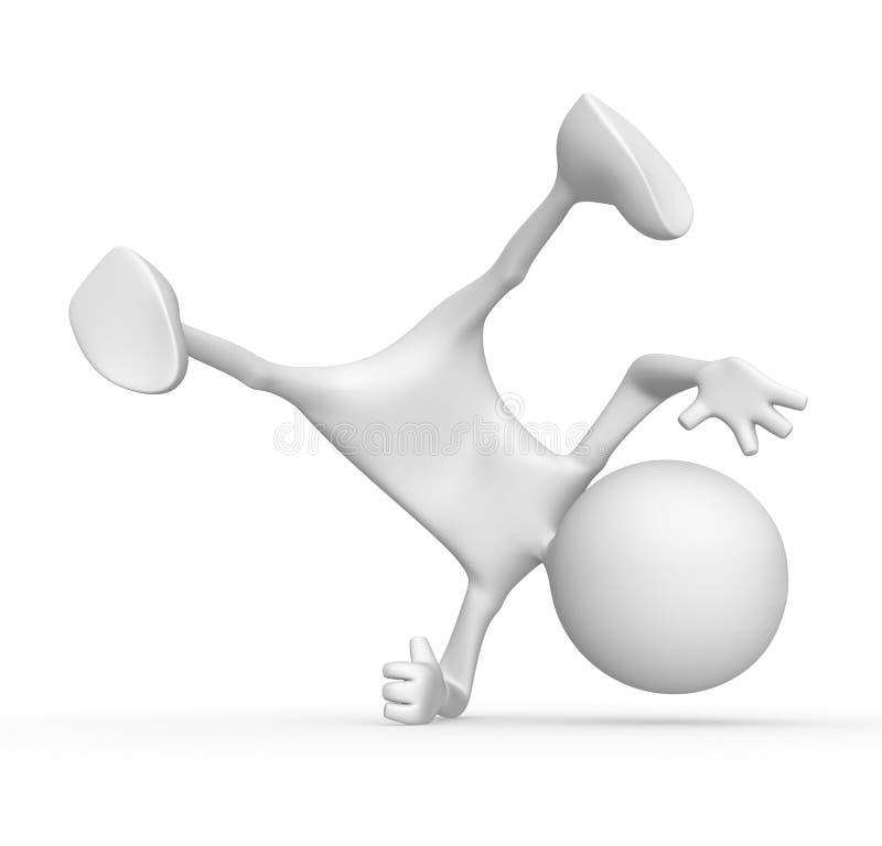 breakdancer del carattere 3d illustrazione di stock