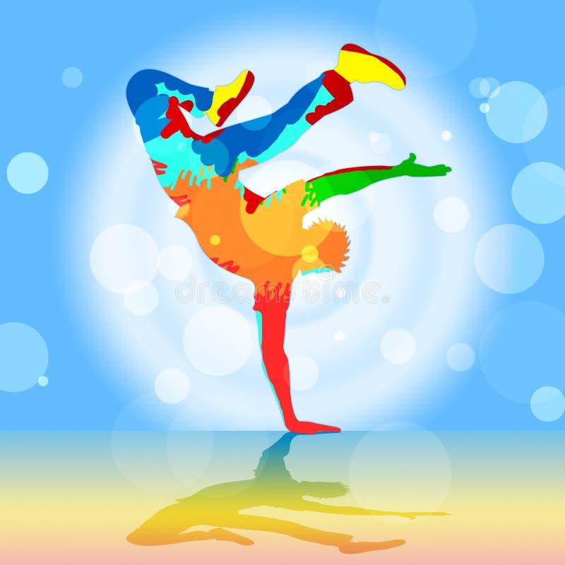 Breakdancer Indicates Disco Dancing und Breakdancer stock abbildung