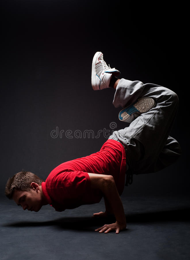 breakdancer mróz obrazy royalty free