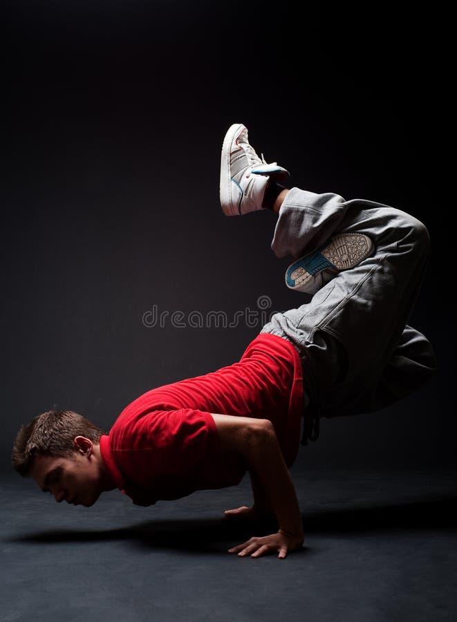 Breakdancer no gelo imagens de stock royalty free