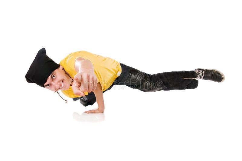 Breakdancer que aponta em você! foto de stock royalty free