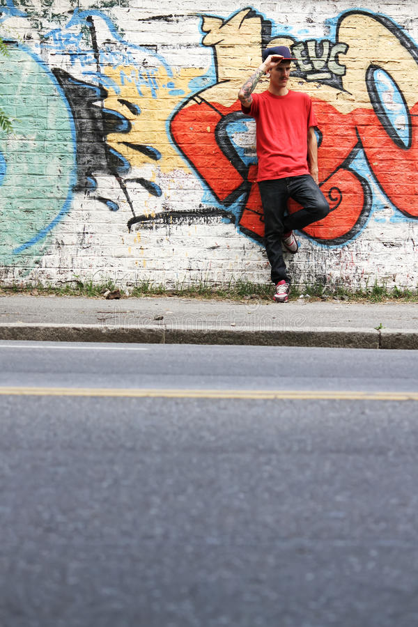 Breakdancer waiting royalty free stock image