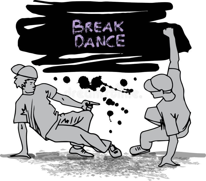 Breakdancers ilustracja wektor