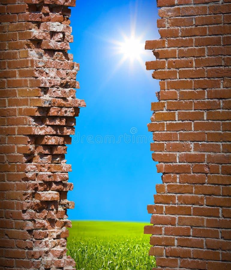 breaken стена свободы принципиальной схемы стоковое фото