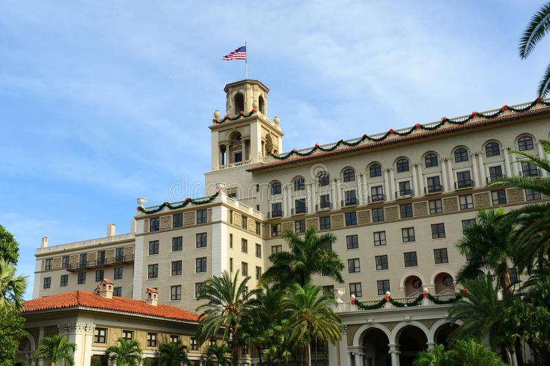 Breakers Hotel, Palm Beach, Florida. Breakers Hotel is a historic hotel in Palm Beach with Italian Renaissance style, Florida, USA. Originally called the Palm royalty free stock images
