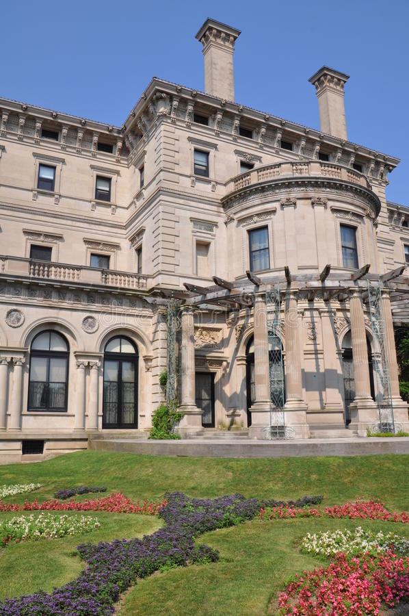 The Breakers Mansion in Newport royalty free stock photography
