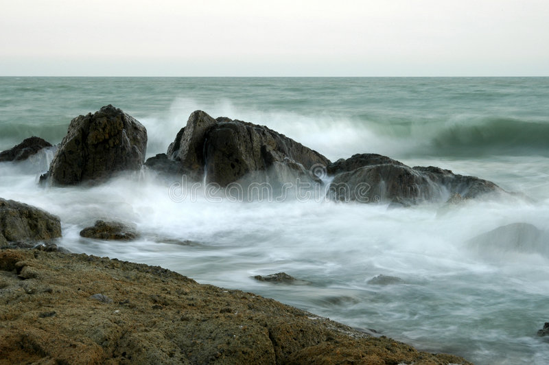 Download Breakers on the sea coast stock photo. Image of water - 6944778