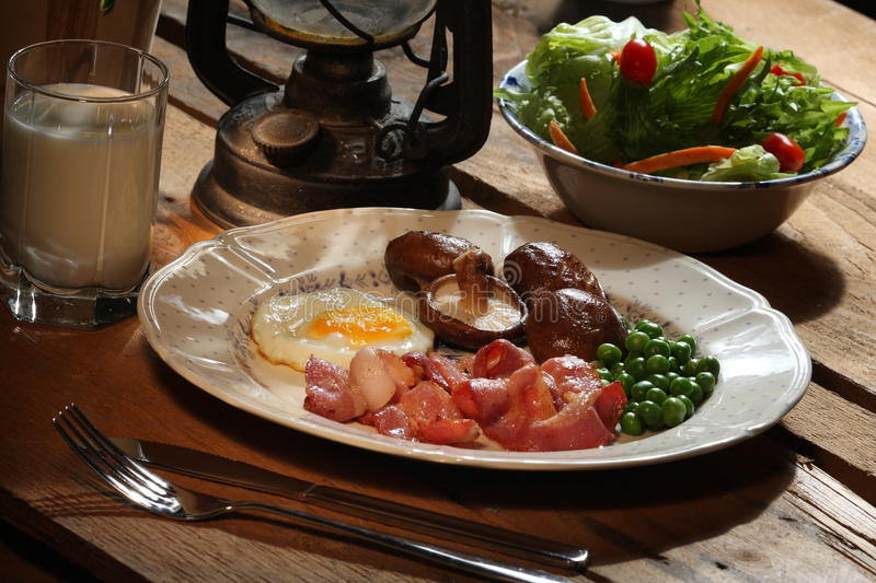 Download Breakfast stock image. Image of glass, lamp, bacon, food - 12772191