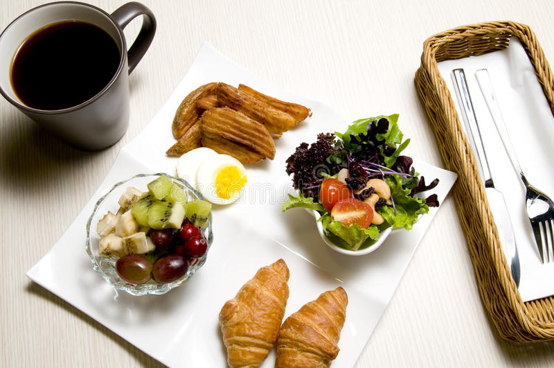 Breakfast. The delicious breakfast in the morning royalty free stock images