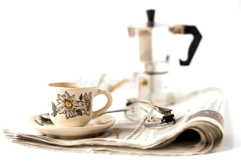 Download Breakfast stock image. Image of newspaper, rest, relaxing - 17869377