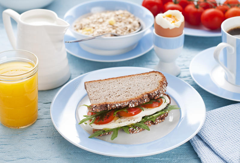 Breakfast. Healthy breakfast on the table close up shoot royalty free stock image
