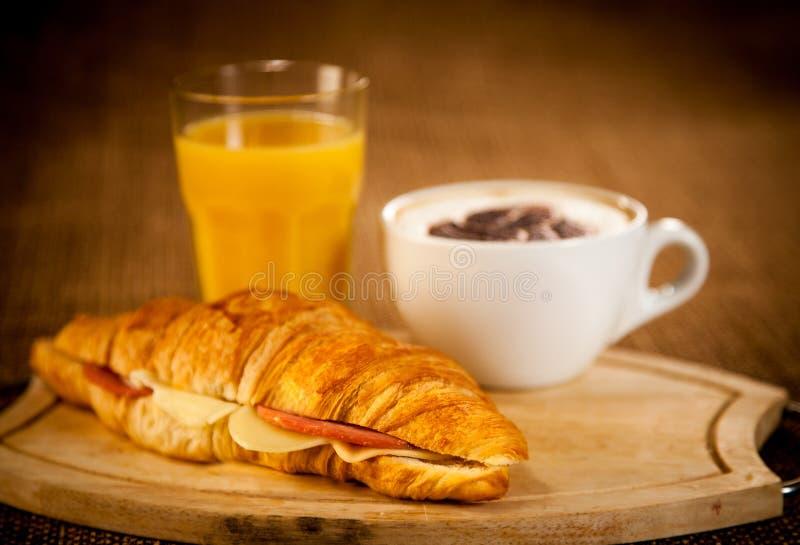 Download Breakfast stock photo. Image of bakery, brown, dark, croissant - 25185658
